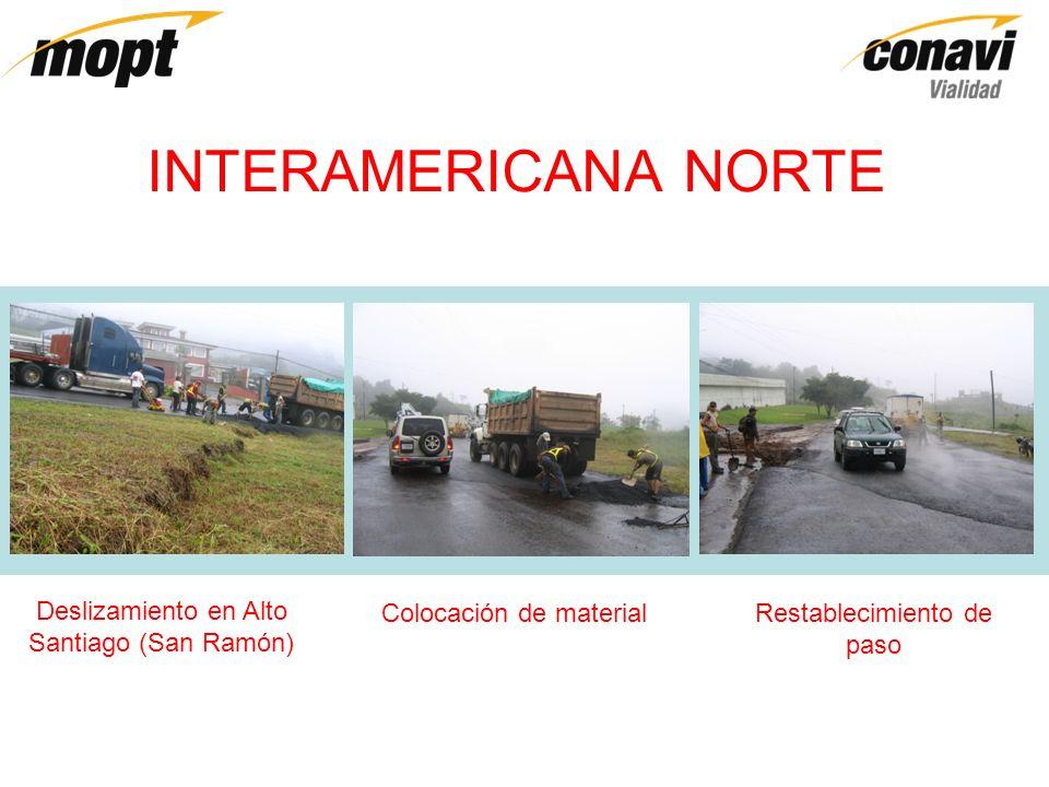 INTERAMERICANA SUR Deslizamiento en Casa Mata Señalamiento emergente instalado Prevista colocación de puente similar al de la imagen, con longitud de 55 metros