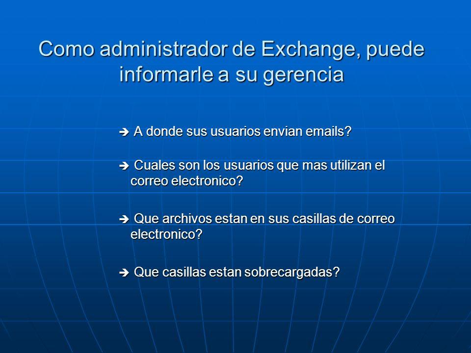 Acerca de PROMODAG Reports PROMODAG Reports es una herramienta de reportes avanzado que permite a los administradores de Exchange y a sus directores IT obtener información valiosa sobre todos los aspectos de su sistema de correo electrónico.