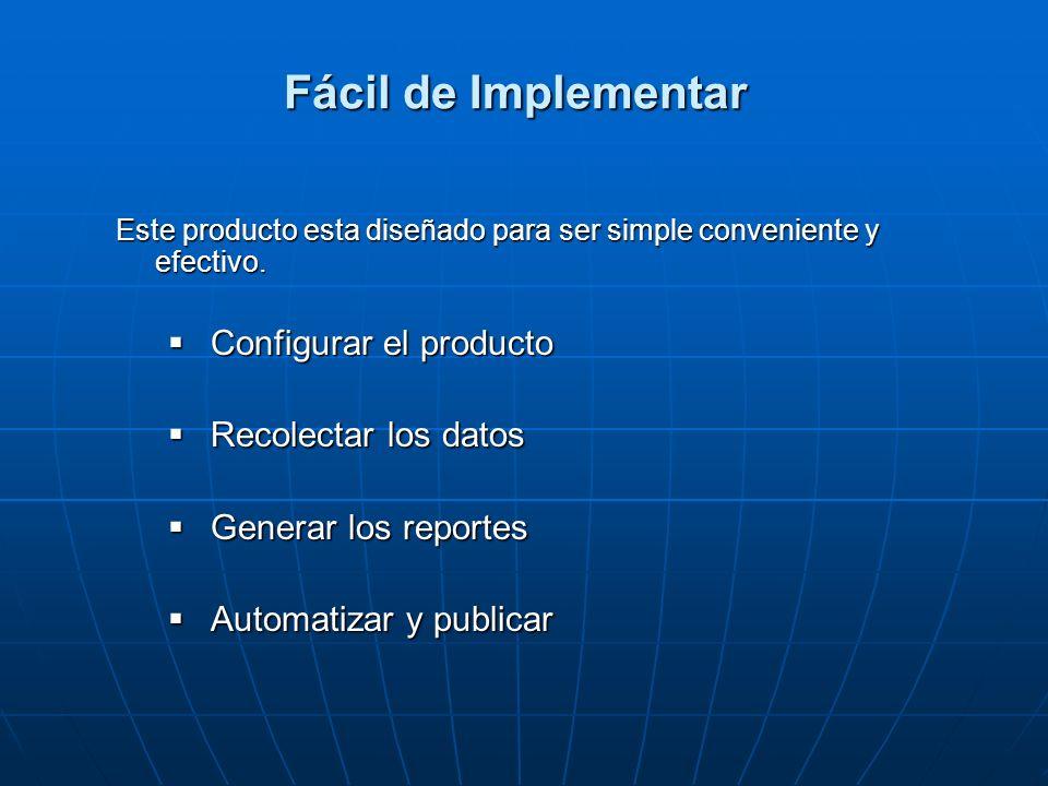 Fácil de Implementar Este producto esta diseñado para ser simple conveniente y efectivo. Configurar el producto Configurar el producto Recolectar los