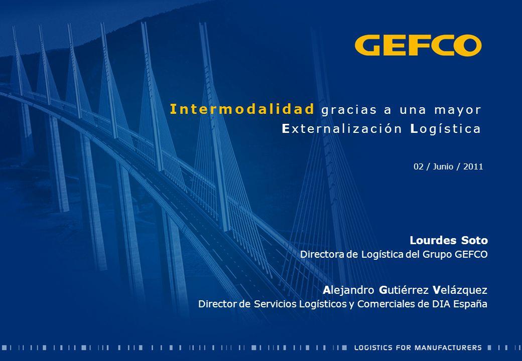 Intermodalidad gracias a una mayor Externalización Logística 02 / Junio / 2011 Lourdes Soto Directora de Logística del Grupo GEFCO Alejandro Gutiérrez