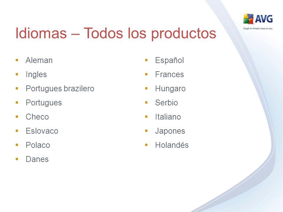 Idiomas – Todos los productos Aleman Ingles Portugues brazilero Portugues Checo Eslovaco Polaco Danes Español Frances Hungaro Serbio Italiano Japones