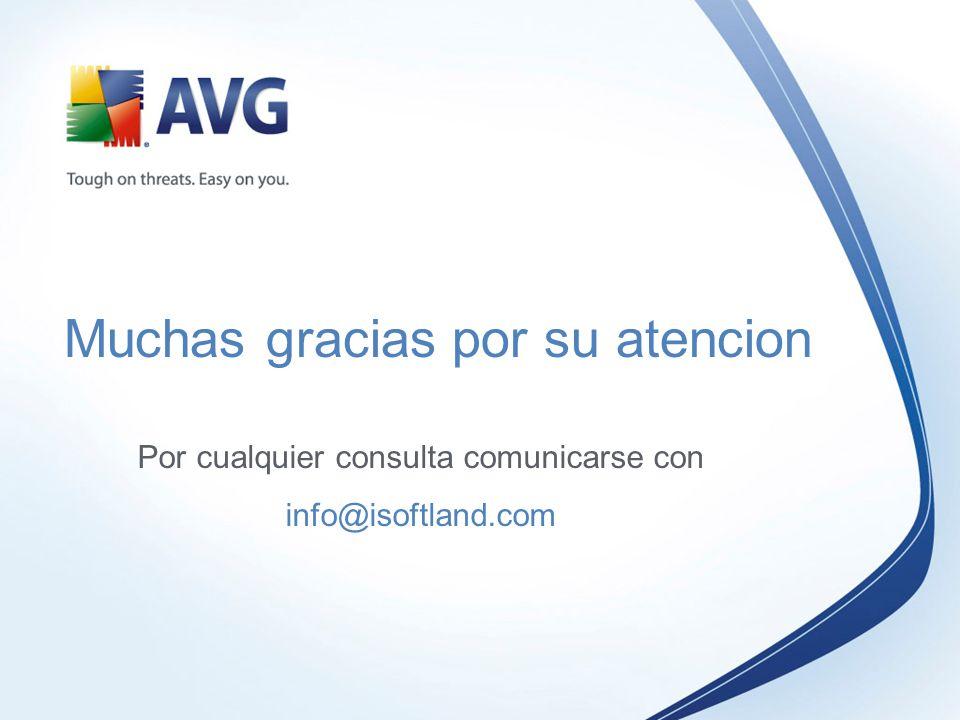 Muchas gracias por su atencion Por cualquier consulta comunicarse con info@isoftland.com