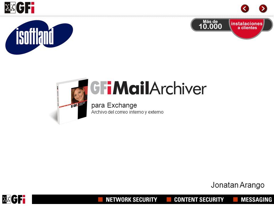 para Exchange Archivo del correo interno y externo Jonatan Arango