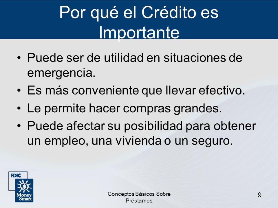 Conceptos Básicos Sobre Préstamos 10 Garantía Propiedades u otros bienes que usted promete dar al banco si no puede devolver su préstamo.