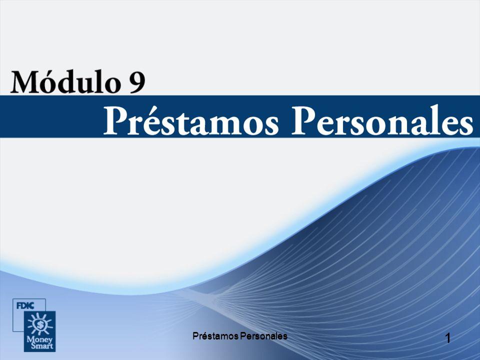 Préstamos Personales 22 Préstamos en Cuotas no Asegurados A veces se los llama préstamos a sola firma, pueden usarse para varios gastos personales como: Consolidación de facturas.