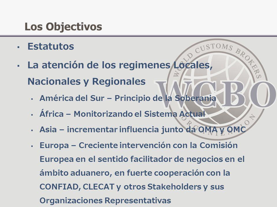 Estatutos La atención de los regimenes Locales, Nacionales y Regionales América del Sur – Principio de la Soberania África – Monitorizando el Sistema