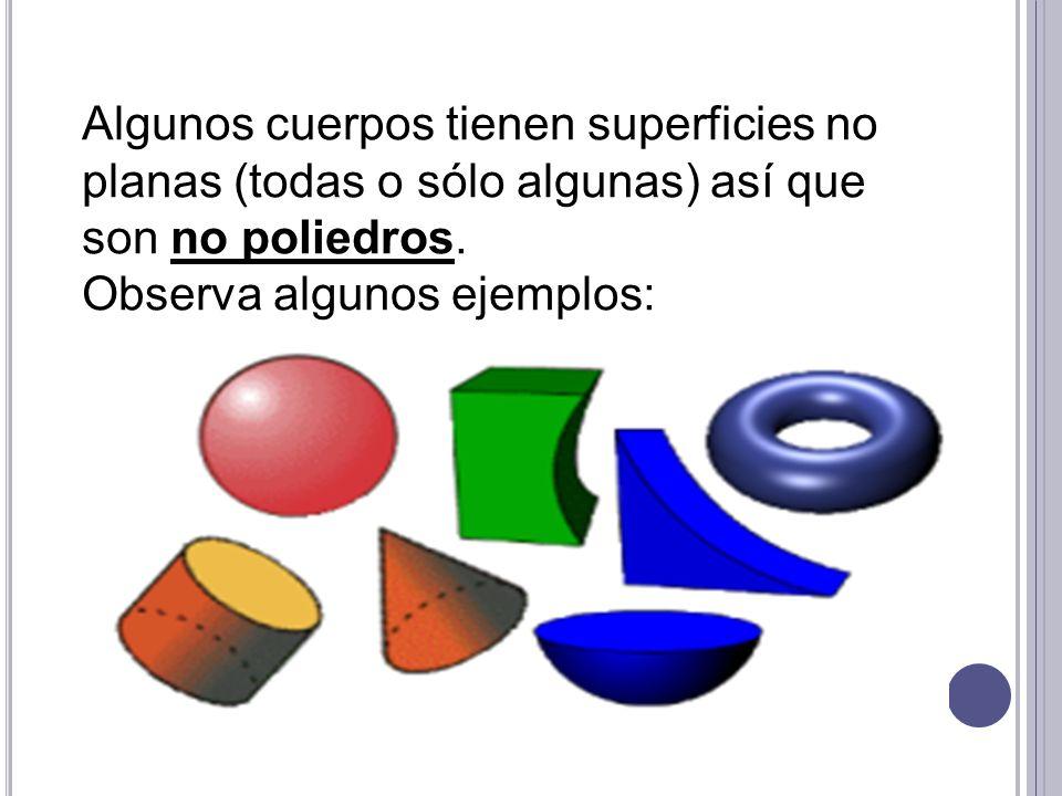 EJERCITEMOS: Indica si los siguientes objetos representan cuerpos poliedros o no poliedros :