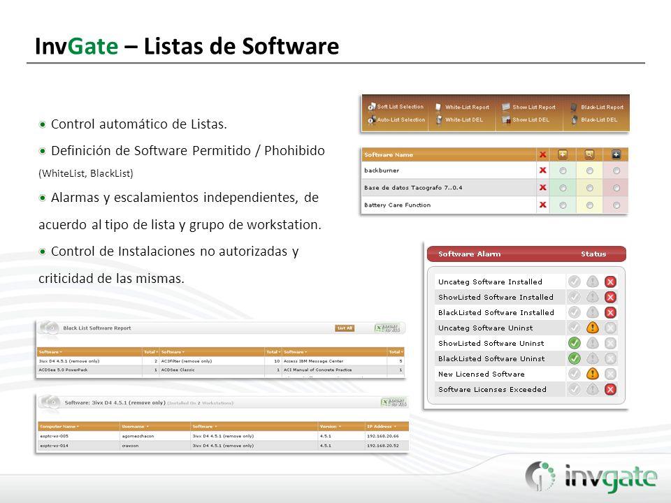 InvGate – Control y Gestión de Licencias Licencias por Grupos de WKS.