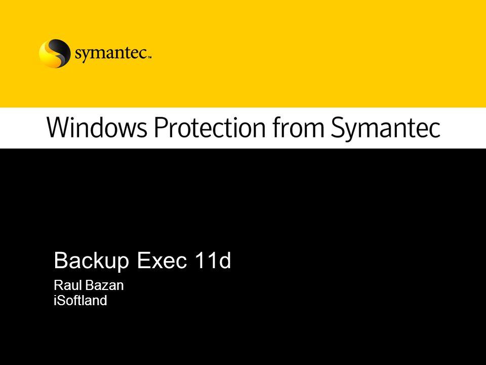 2 – 2006 Symantec Corporation Agenda Backup exec 11d introducción Proteccion Continua Desarrollo de los principales agentes (sql, exchange, active directory) Consultas y licenciamiento