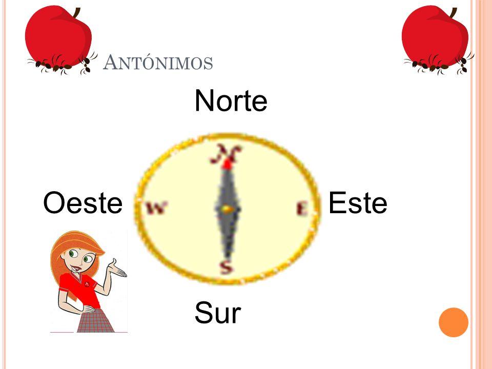 A NTÓNIMOS Norte Sur EsteOeste