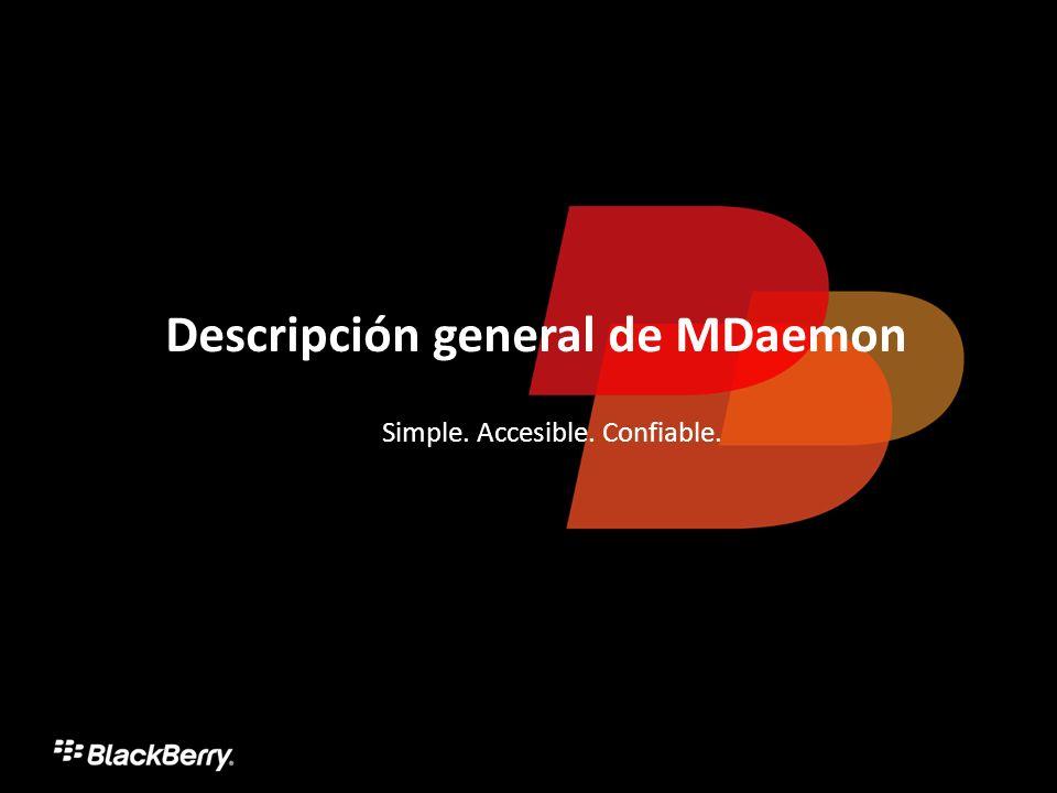 Descripción general de MDaemon Simple. Accesible. Confiable.