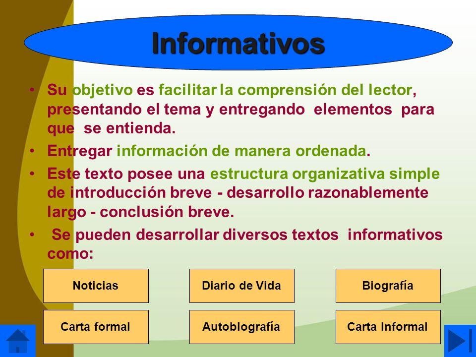Su objetivo es facilitar la comprensión del lector, presentando el tema y entregando elementos para que se entienda. Entregar información de manera or
