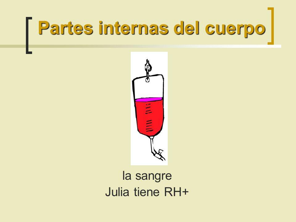 la sangre Julia tiene RH+ Partes internas del cuerpo