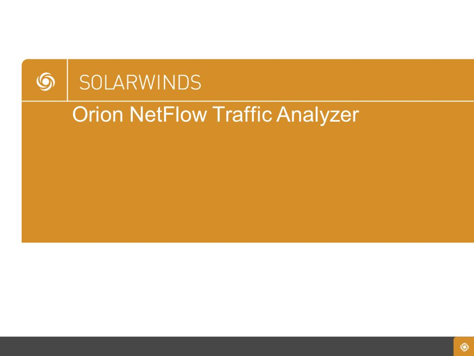 Orion NetFlow Traffic Analyzer