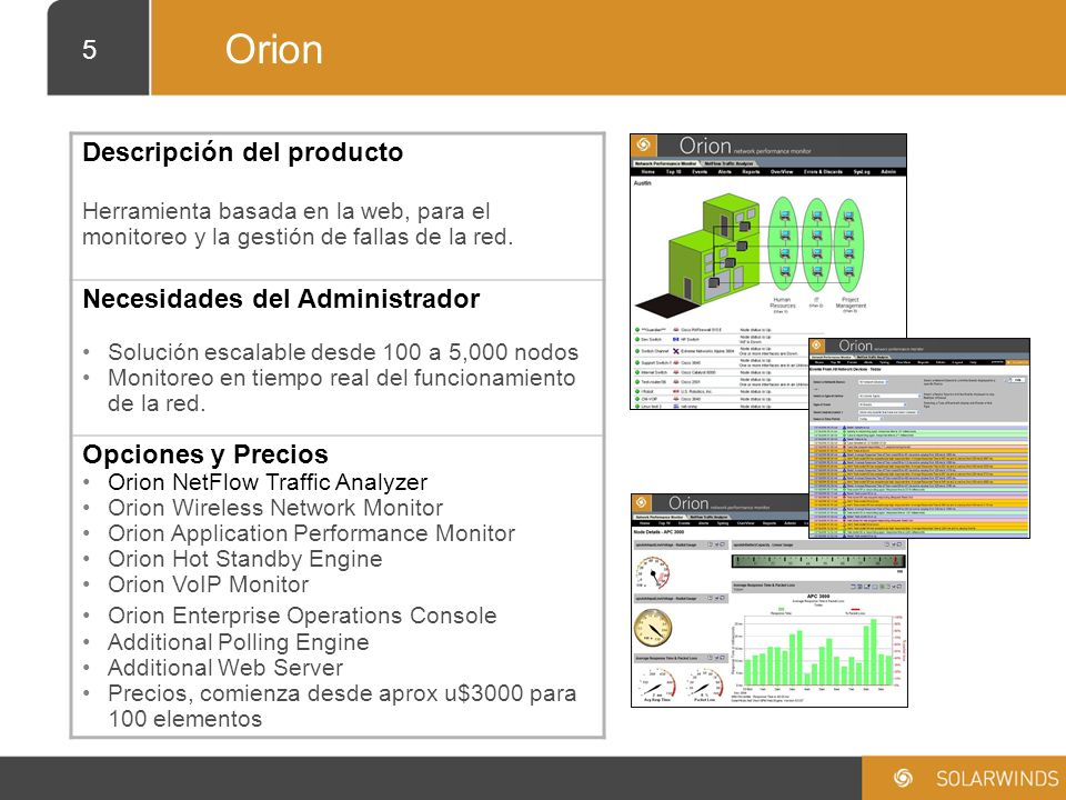 26 DEMO ONLINE DEL PRODUCTO SOLARWINDS ORION