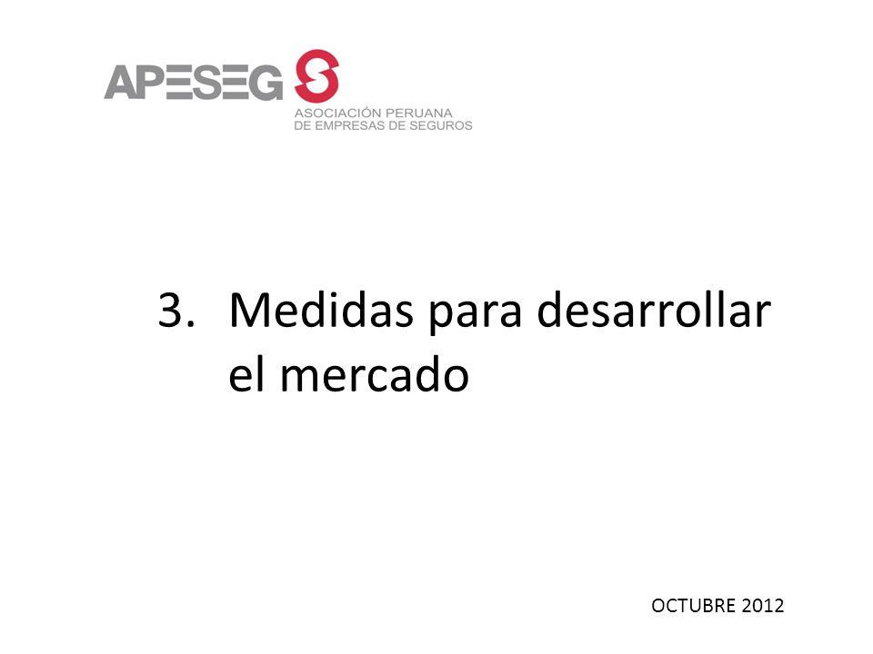 OCTUBRE 2012 3.Medidas para desarrollar el mercado