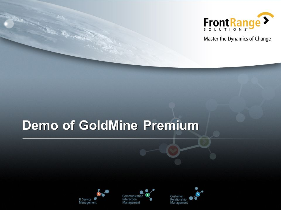 Demo of GoldMine Premium
