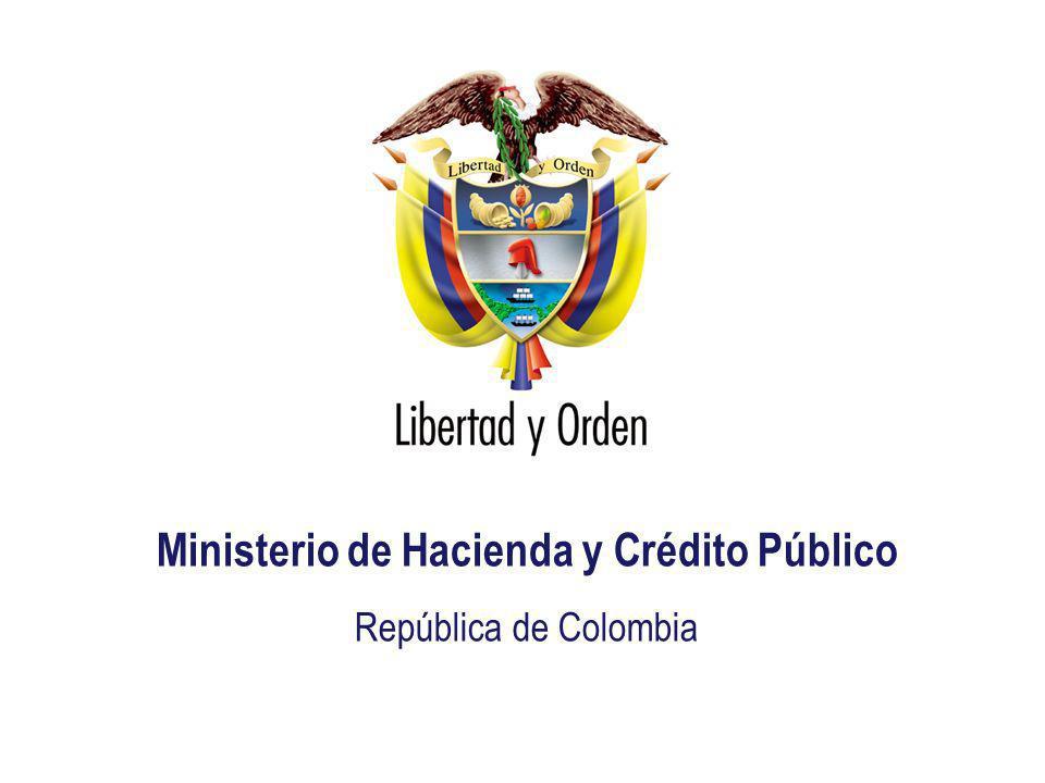 Ministerio de Hacienda República de Colombia Presentación MHCP_ Ministerio de Hacienda y Crédito Público República de Colombia