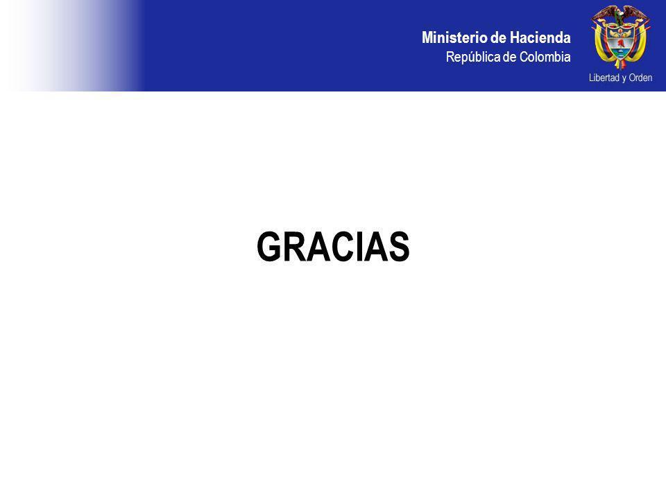 Ministerio de Hacienda República de Colombia GRACIAS