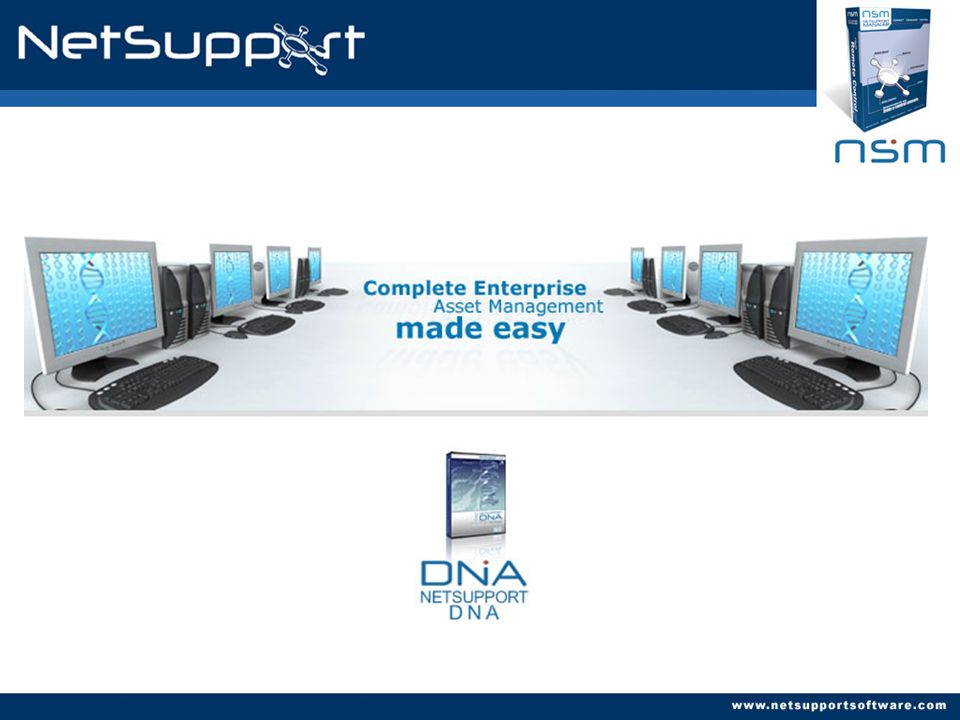 Requerimientos del Sistema NetSupport DNA Server Recommended Hardware: Pentium III 500Mhz or higher, with 256Mb Ram.