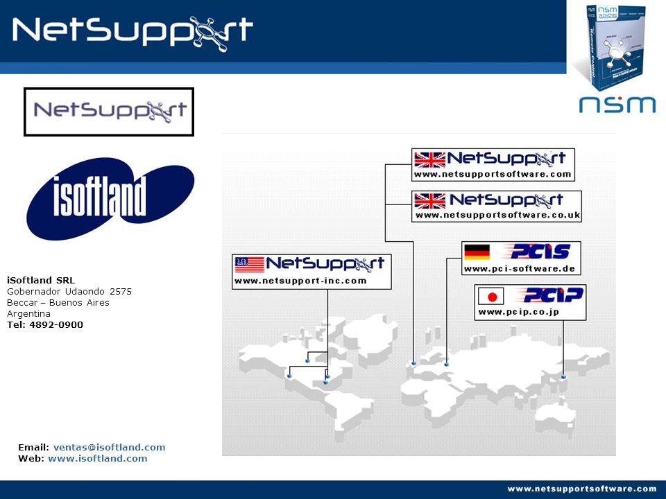 iSoftland SRL Gobernador Udaondo 2575 Beccar – Buenos Aires Argentina Tel: 4892-0900 Email: ventas@isoftland.com Web: www.isoftland.com