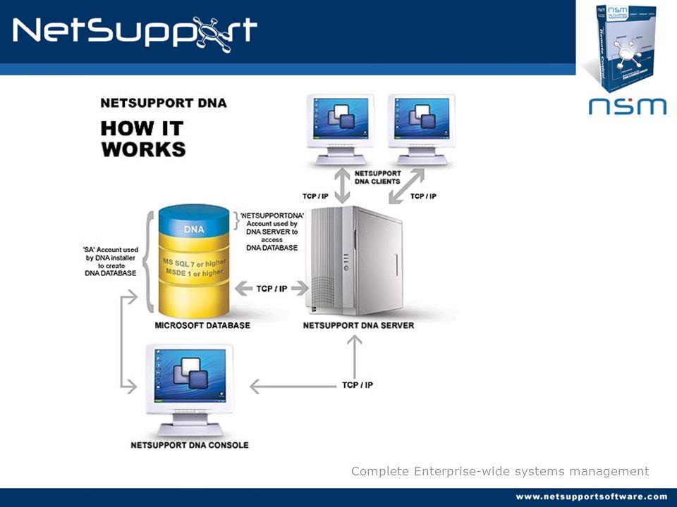 Key features : Distribución de Software NetSupport DNA ofrece la posibilidad de distribuir, de manera centralizada, el software corporativo de su empresa.