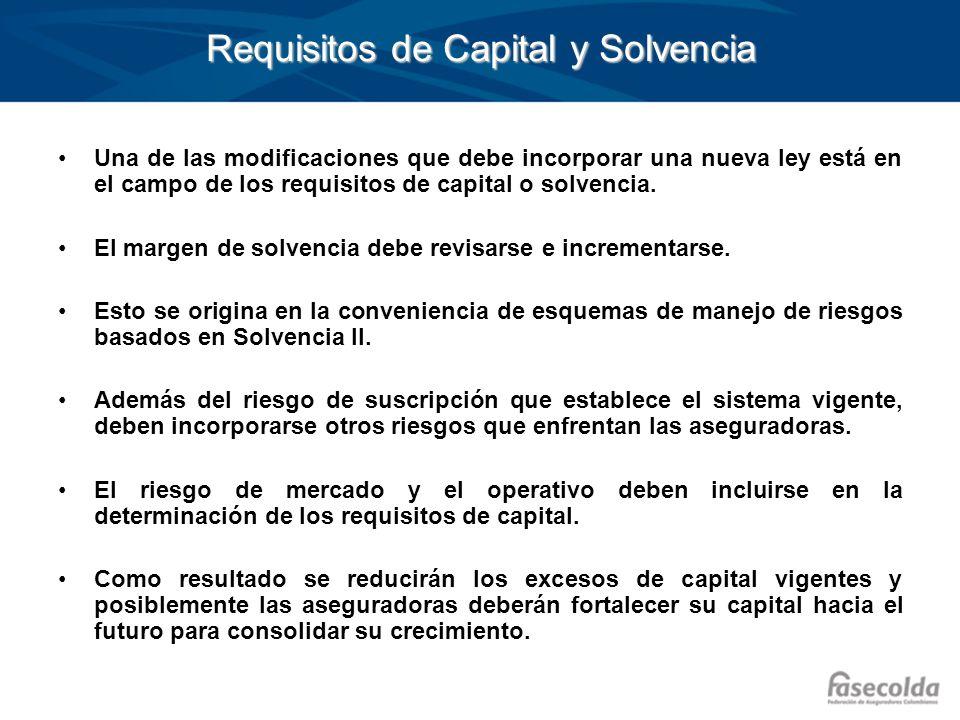Requisitos de Capital y Solvencia Una de las modificaciones que debe incorporar una nueva ley está en el campo de los requisitos de capital o solvenci
