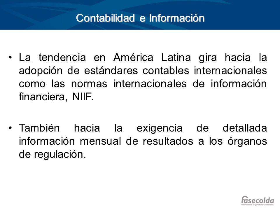 Contabilidad e Información La tendencia en América Latina gira hacia la adopción de estándares contables internacionales como las normas internacional