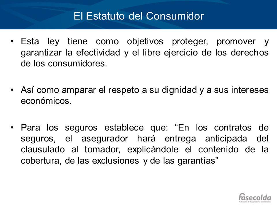 El Estatuto del Consumidor Esta ley tiene como objetivos proteger, promover y garantizar la efectividad y el libre ejercicio de los derechos de los co