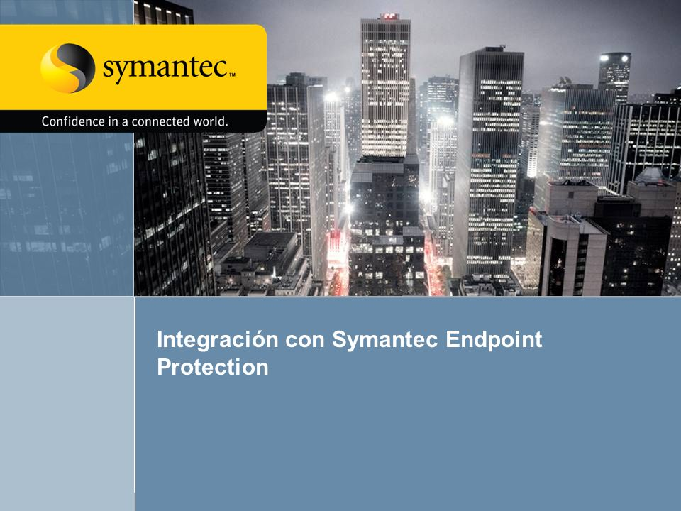 Integración con Symantec Endpoint Protection