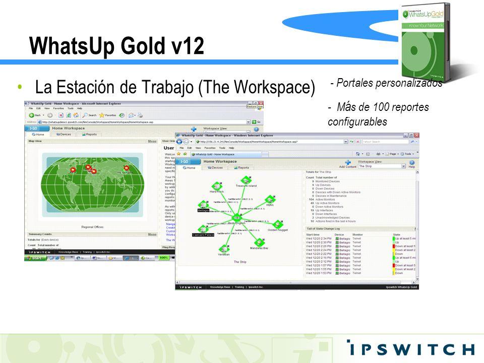 WhatsUp Gold v12 La Estación de Trabajo (The Workspace) - Portales personalizados - M á s de 100 reportes configurables