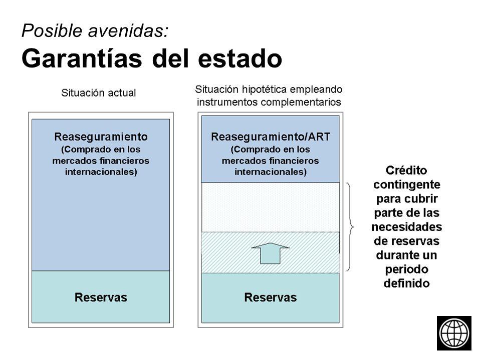 Posible avenidas: Garantías del estado
