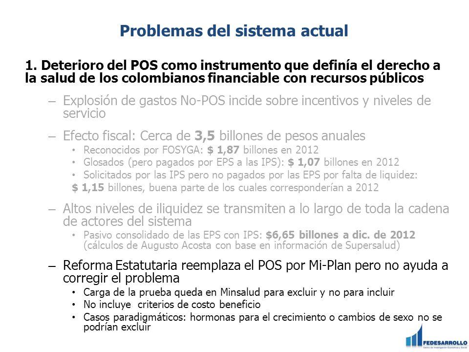 Problemas del sistema actual 2.