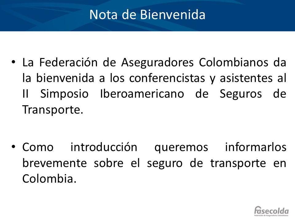 Nota de Bienvenida La Federación de Aseguradores Colombianos da la bienvenida a los conferencistas y asistentes al II Simposio Iberoamericano de Segur