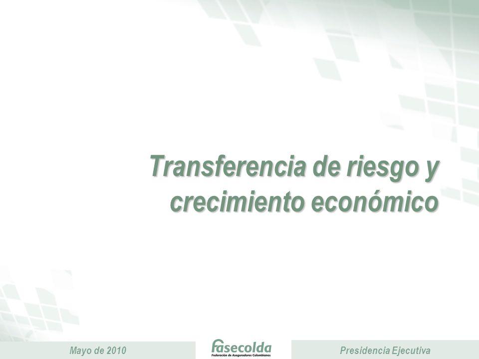 Presidencia Ejecutiva Mayo de 2010 Presidencia Ejecutiva Transferencia de riesgo y crecimiento económico