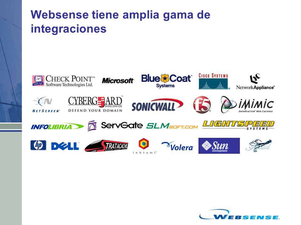 Websense tiene amplia gama de integraciones