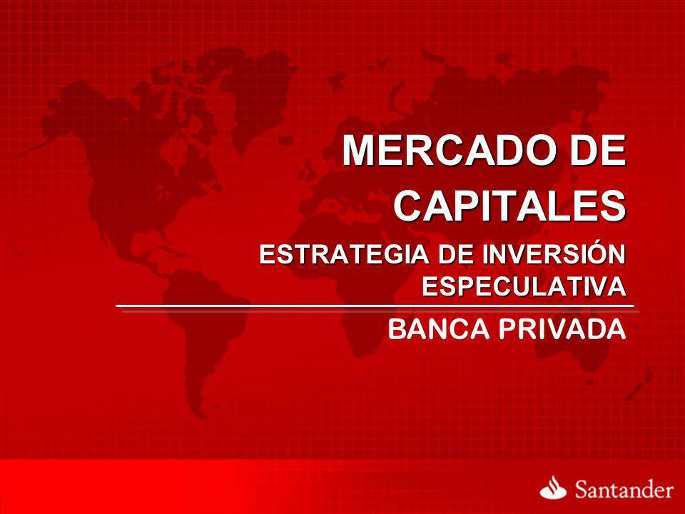 ESTRATEGIA DE INVERSIÓN ESPECULATIVA MERCADO DE CAPITALES BANCA PRIVADA