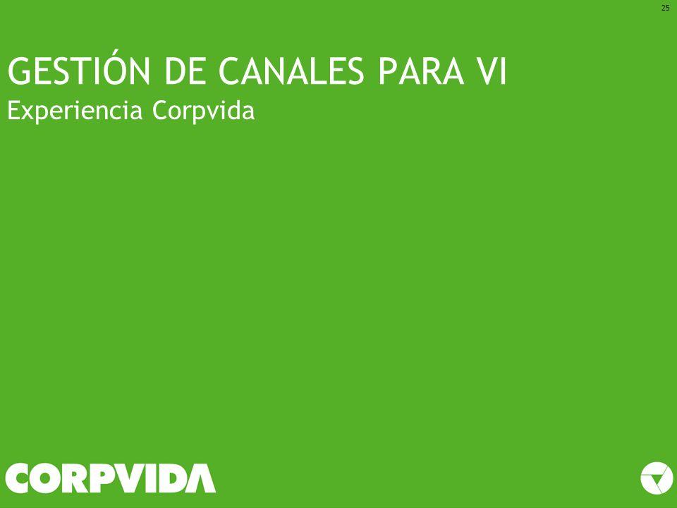 GESTIÓN DE CANALES PARA VI Experiencia Corpvida 25