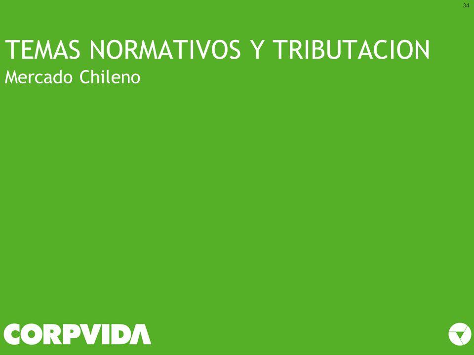 TEMAS NORMATIVOS Y TRIBUTACION Mercado Chileno 34