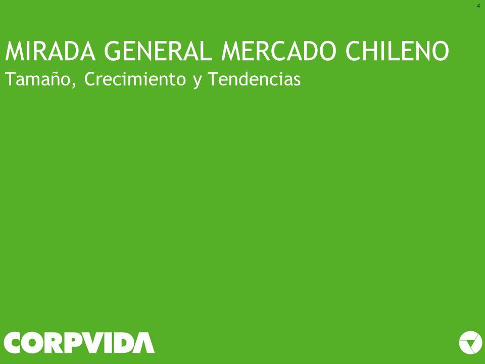 MIRADA GENERAL MERCADO CHILENO Tamaño, Crecimiento y Tendencias 4