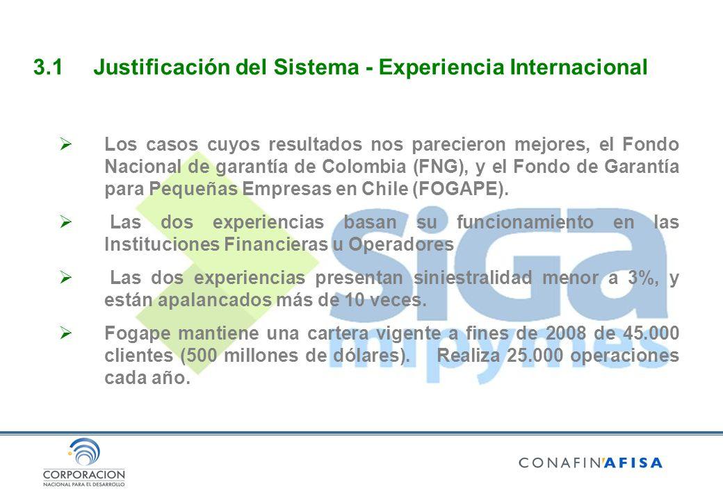 Los casos cuyos resultados nos parecieron mejores, el Fondo Nacional de garantía de Colombia (FNG), y el Fondo de Garantía para Pequeñas Empresas en Chile (FOGAPE).