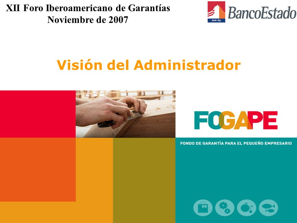 Visión del Administrador XII Foro Iberoamericano de Garantías Noviembre de 2007