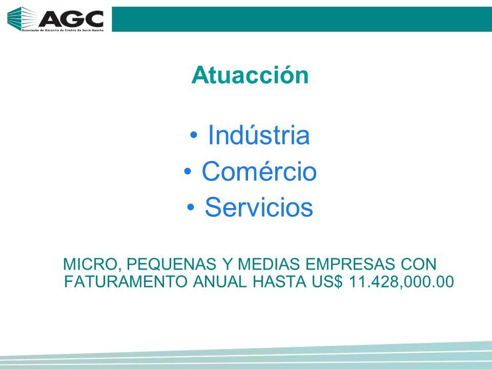 Atuacción Indústria Comércio Servicios MICRO, PEQUENAS Y MEDIAS EMPRESAS CON FATURAMENTO ANUAL HASTA US$ 11.428,000.00