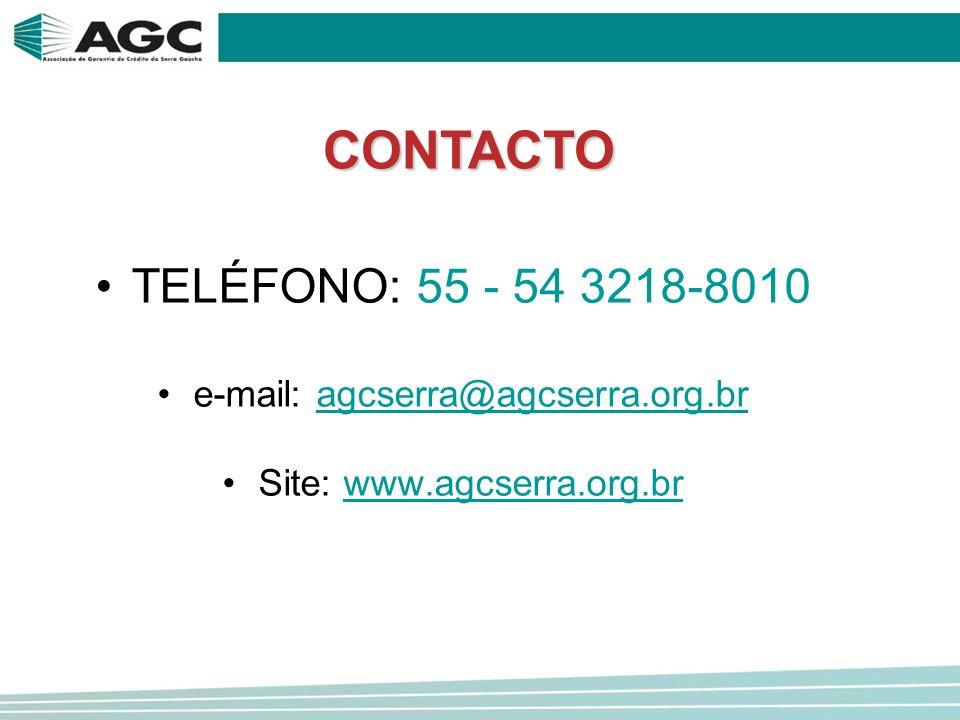 TELÉFONO: 55 - 54 3218-8010 e-mail: agcserra@agcserra.org.bragcserra@agcserra.org.br Site: www.agcserra.org.brwww.agcserra.org.brCONTACTO