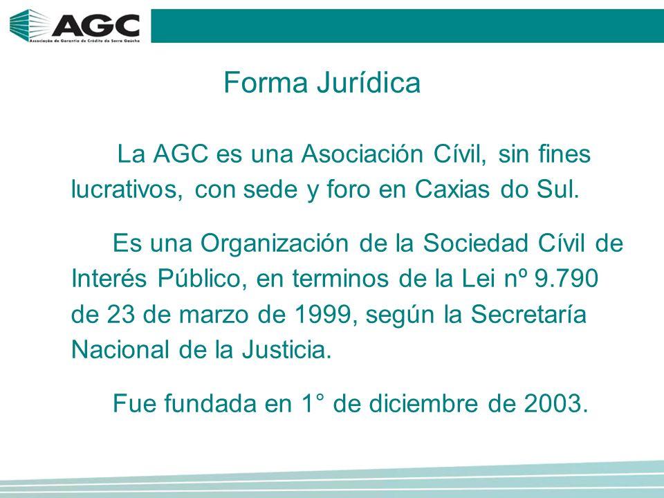 La AGC es una Asociación Cívil, sin fines lucrativos, con sede y foro en Caxias do Sul.