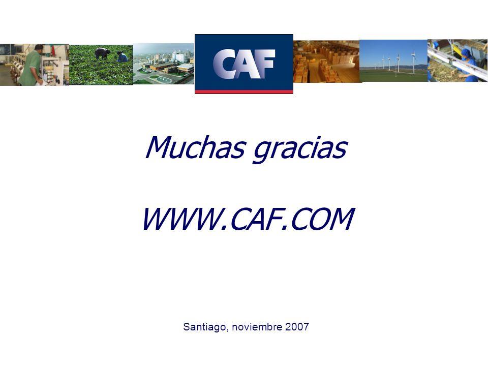 Muchas gracias WWW.CAF.COM Santiago, noviembre 2007