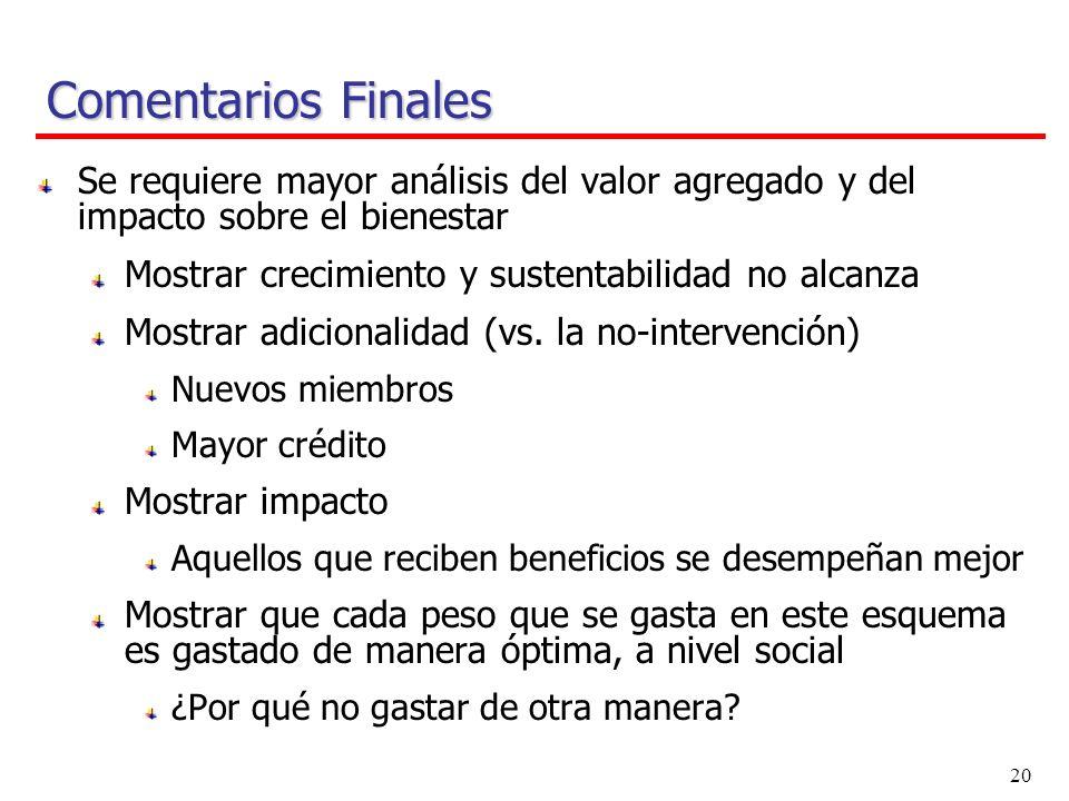 19 Comentarios Finales ¿Existe un nuevo rol para el estado en la promoción del desarrollo financiero.