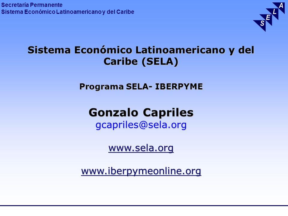 Secretaría Permanente Sistema Económico Latinoamericano y del Caribe Sistema Económico Latinoamericano y del Caribe (SELA) Programa SELA- IBERPYME Gon