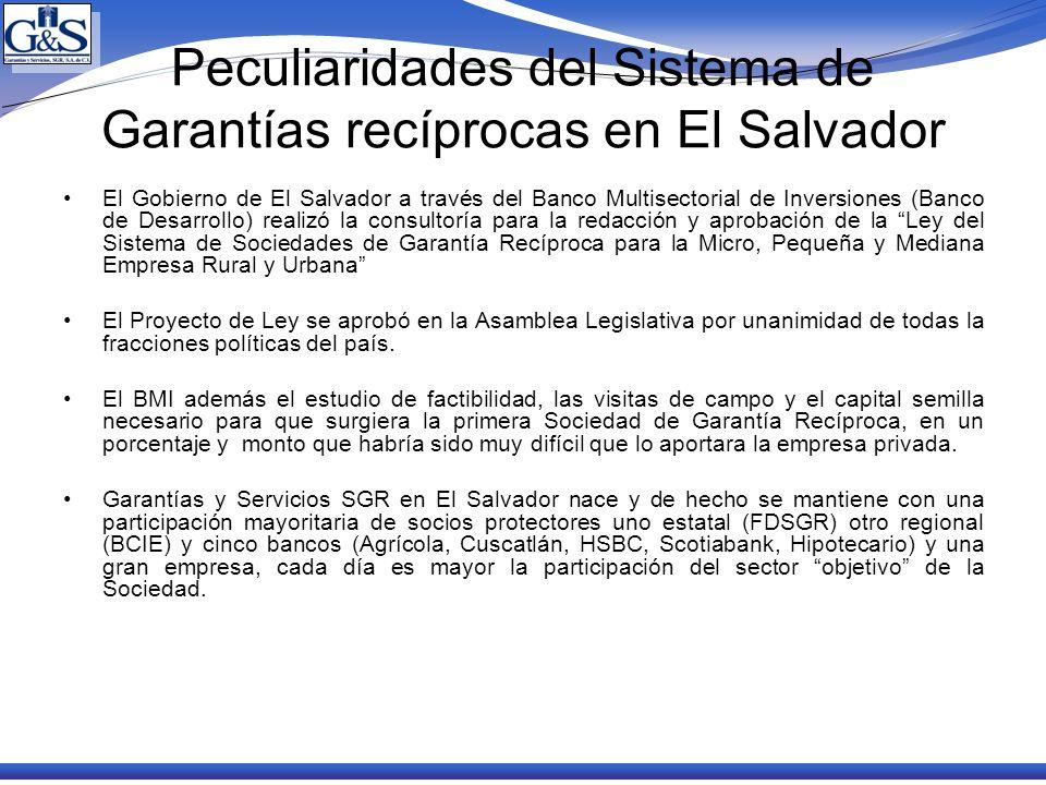 Peculiaridades del Sistema de Garantías recíprocas en El Salvador El Gobierno de El Salvador a través del Banco Multisectorial de Inversiones (Banco d