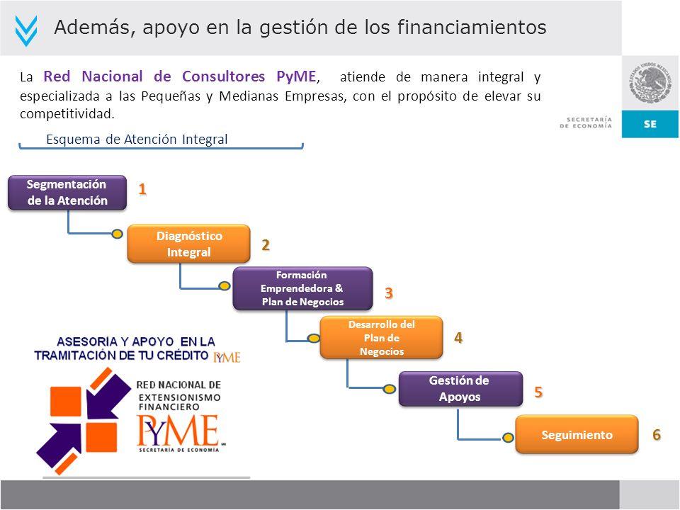 Esquema de Atención Integral La Red Nacional de Consultores PyME, atiende de manera integral y especializada a las Pequeñas y Medianas Empresas, con e